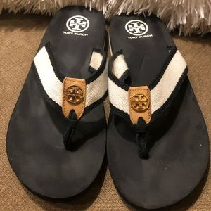 Authentic Tory Burch Flip Flops- Size 10 Used
